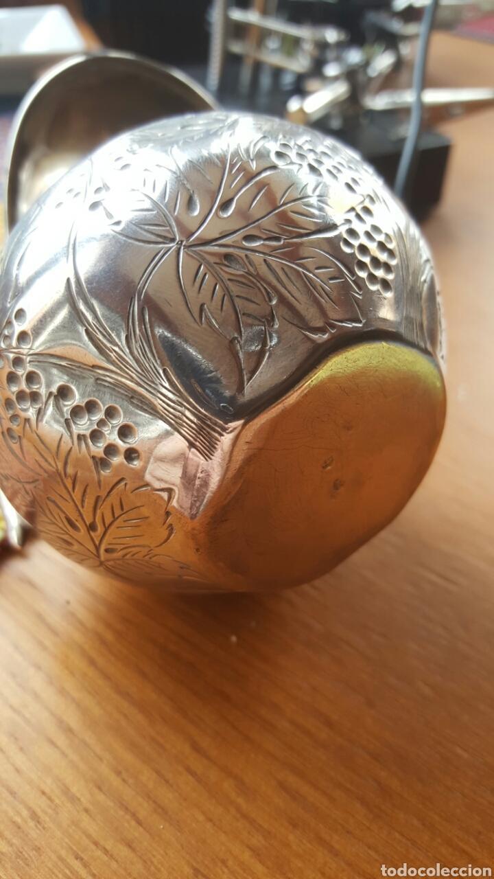 Antigüedades: Antigua jarrita, de 9cm, en plata de ley - Foto 14 - 51054084