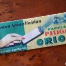 Antigüedades: MATAMOSCAS, HUMOS INSECTICIDAS. PAPELES PELIGAM ORION. (SIN ABRIR). INDUSTRIAS MARCA S.A. BARCELONA.. Lote 63115148