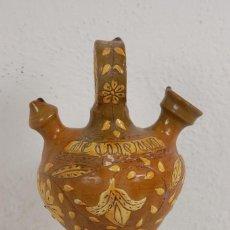 Antigüedades: VIEJO BOTIJO CERÁMICA DE ENGOBES DE CUERVA (TOLEDO). Lote 63161920
