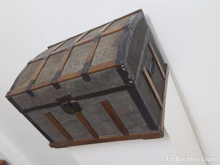Antigüedades: Antigua arca o baúl. - Foto 3 - 63180040