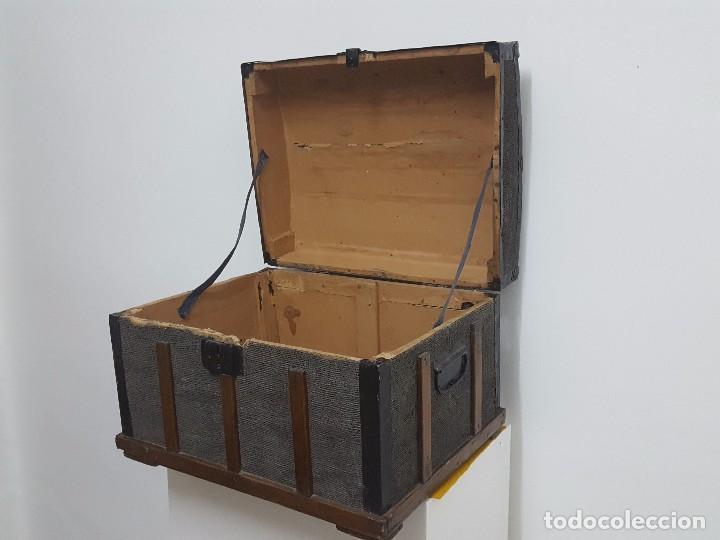 Antigüedades: Antigua arca o baúl. - Foto 6 - 63180040