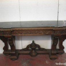 Antigüedades: ANTIGUO MUEBLE DE MADERA CON MÁRMOL. Lote 63183424