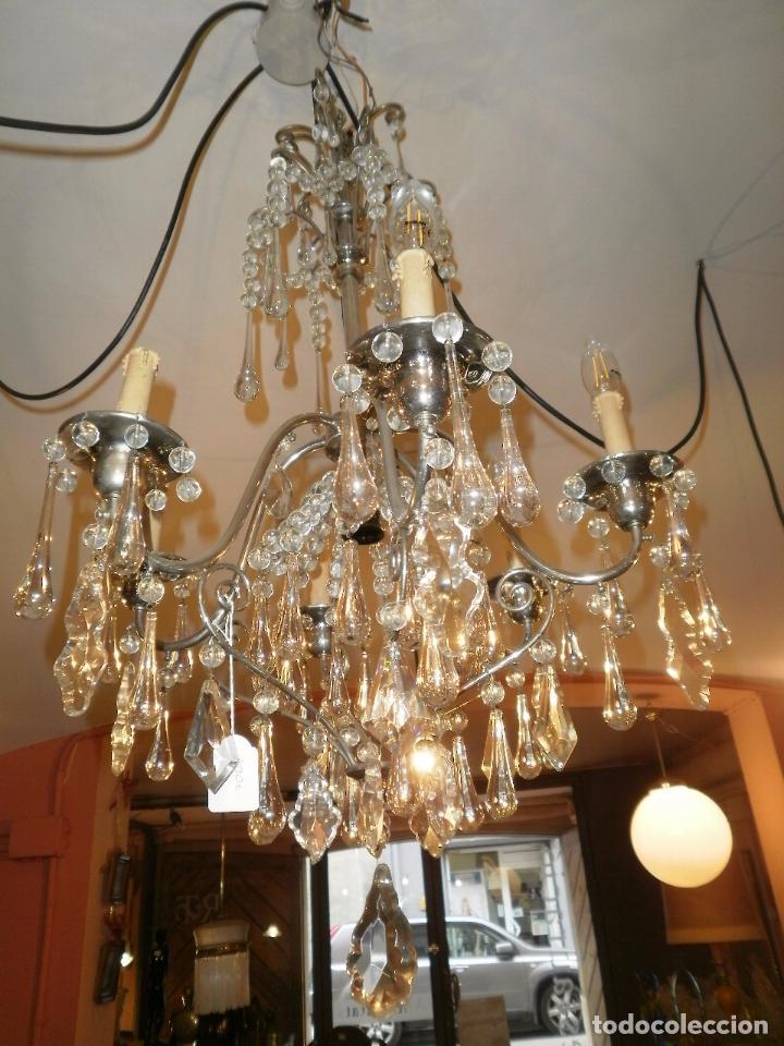 Antigua lampara de lagrimas y cromada restaura comprar - Venta de lamparas antiguas ...