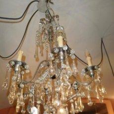 Antigüedades: ANTIGUA LAMPARA DE LAGRIMAS Y CROMADA. RESTAURADA.. Lote 63247044