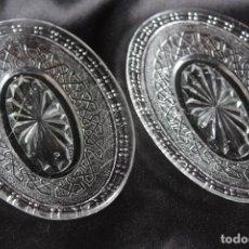 Antigüedades: ANTIGUAS BANDEJAS DE CRISTAL MOLDADO DE SANTA LUCIA, AÑOS 30 .40.BANDEJA. Lote 63252656