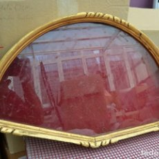 Antigüedades: ABANIQUERA DE MADERA EN PAN DE ORO. Lote 63252888