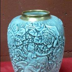 Antigüedades: JARRÓN ART DECÓ AÑOS 50 DE PORCELANA.. Lote 63265324