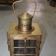 Antigüedades: LAMPARA FAROL EN LATON CON CRISTALES. Lote 63278068