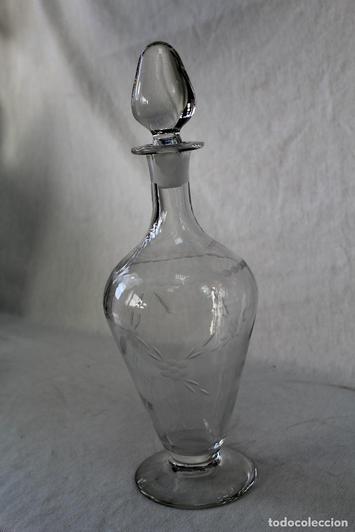 BOTELLA LICORERA EN CRISTAL DE SANTA LUCIA - CARTAGENA (Antigüedades - Cristal y Vidrio - Santa Lucía de Cartagena)