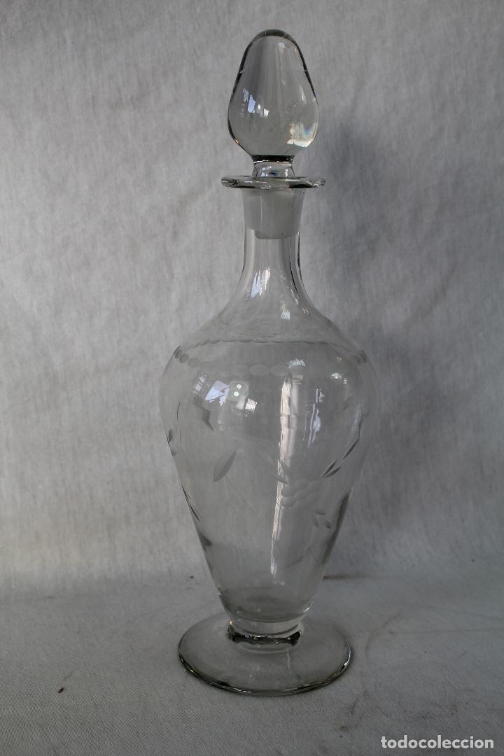 Antigüedades: botella licorera en cristal de santa lucia - cartagena - Foto 3 - 63284044