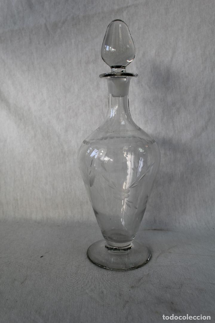 Antigüedades: botella licorera en cristal de santa lucia - cartagena - Foto 4 - 63284044
