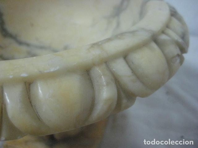 Antigüedades: ANTIGUO ACETRE Ó BENDITERA DE MARMOL VETEADO Y CINCELADO.PARA LITURGIA.ORIGINAL SIGLO XIX - Foto 11 - 63288048