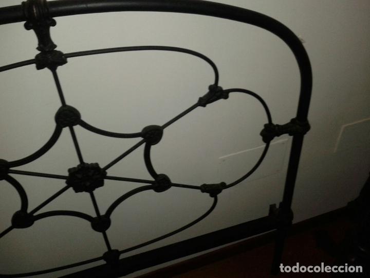 Antigüedades: cabezal cama de hierro - Foto 6 - 63289888