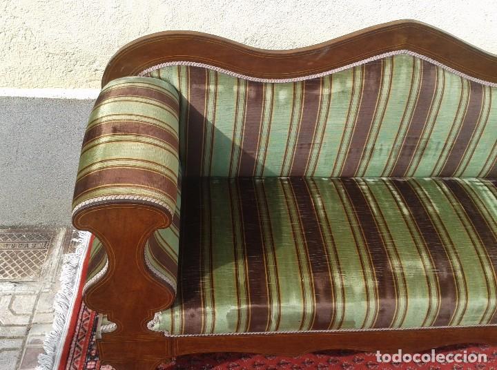 Antigüedades: Sofá antiguo estilo isabelino. Sofá estilo fernandino. - Foto 7 - 63301280