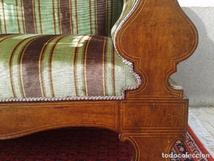 Antigüedades: Sofá antiguo estilo isabelino. Sofá estilo fernandino. - Foto 10 - 63301280
