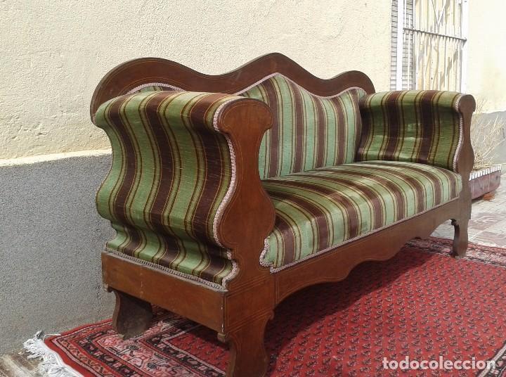 Antigüedades: Sofá antiguo estilo isabelino. Sofá estilo fernandino. - Foto 11 - 63301280