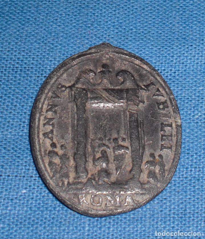 ANTIGUA MEDALLA SIGLO XVII AÑO JUBILEO Y SAN PABLO (Antigüedades - Religiosas - Medallas Antiguas)