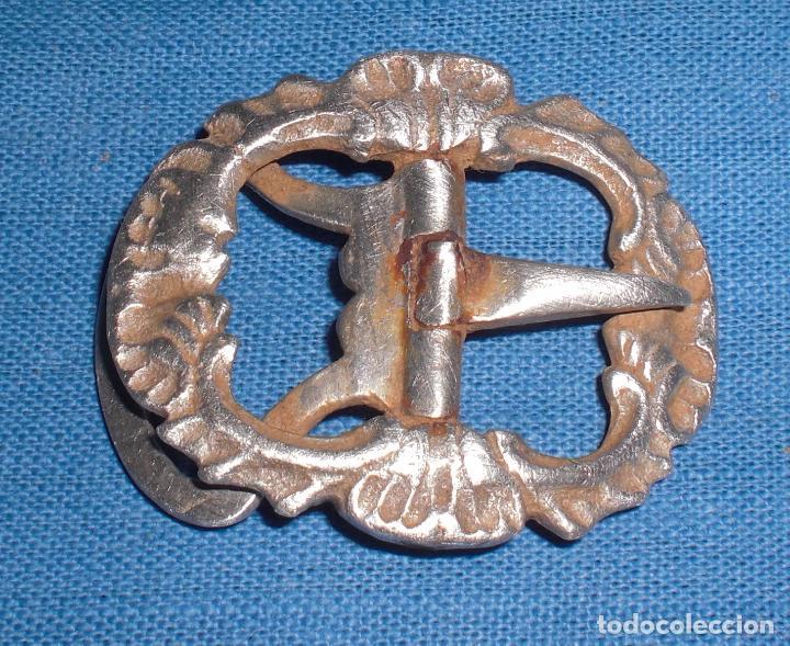 ANTIGUA HEBILLA DE ZAPATO PLATA SIGLO XVII (Antigüedades - Platería - Plata de Ley Antigua)