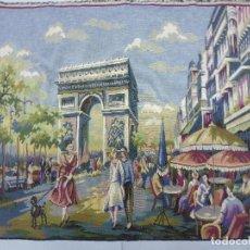 Antigüedades: TAPÌZ ITALIANO, ESCENA PARISIENA AÑOS 40. Lote 63326896