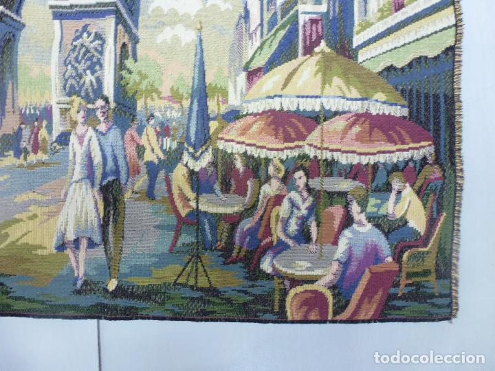Antigüedades: Tapìz italiano, escena Parisiena años 40 - Foto 3 - 63326896