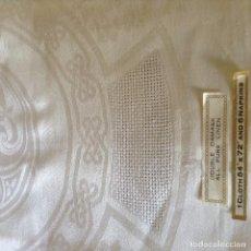 Antigüedades: MANTEL DE DAMASCO DE HILO ANTIGUO. Lote 63390388