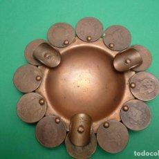 Antigüedades: CENICERO DORADO. Lote 63391348