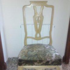 Antigüedades: SILLAS ESTILO ANNA, PAREJA DE SILLAS DE MADERA TALLADA, EN BUEN ESTADO.. Lote 63403172