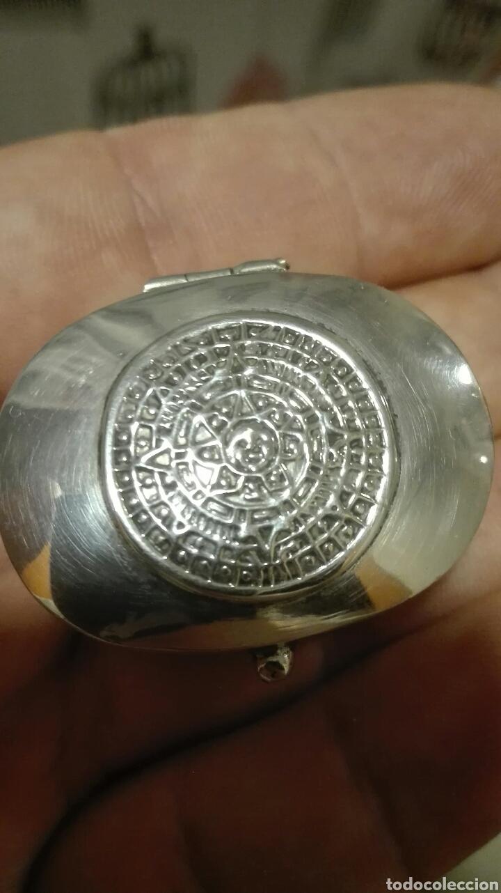 Antigüedades: Pastillero Plata 925 Mexico - Foto 2 - 63407183