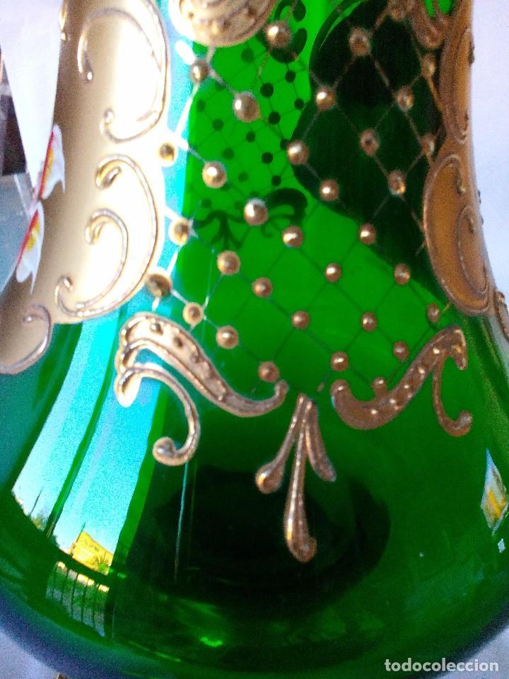 Antigüedades: Jarra cristal de murano verde y oro - Foto 10 - 63412976