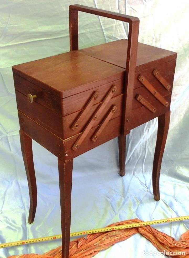 COSTURERO ANTIGUO DE MADERA. GRAN PIEZA. CAJA DE COSTURA. WOOD SEWING: (Antigüedades - Muebles Antiguos - Auxiliares Antiguos)