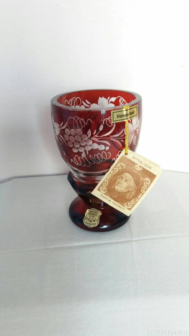 PRECIOSA COPA DE BOHEMIA (Antigüedades - Cristal y Vidrio - Bohemia)