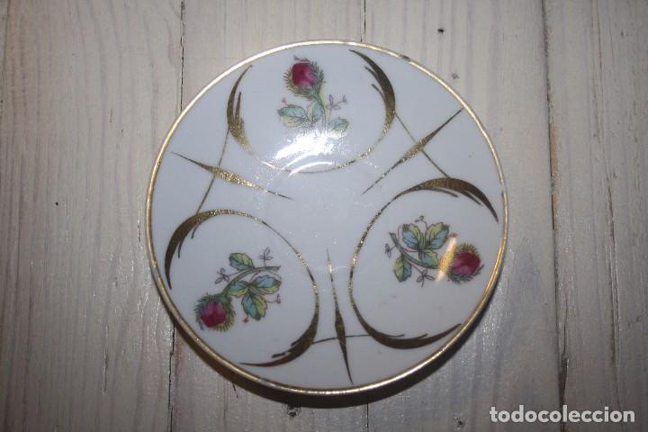 ANTIGUO PLATO DE PORCELANA CON MOTIVOS FLORALES (Antigüedades - Porcelanas y Cerámicas - Otras)