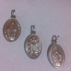 Antigüedades: 3 MEDALLAS NUEVAS 3 VÍRGENES. Lote 63482150