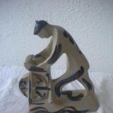 Antigüedades: PORCELANA, ARTESANIA DE GALICIA , AFILADOR FIRMADA VER FOTOS ANEXAS.. Lote 63488456