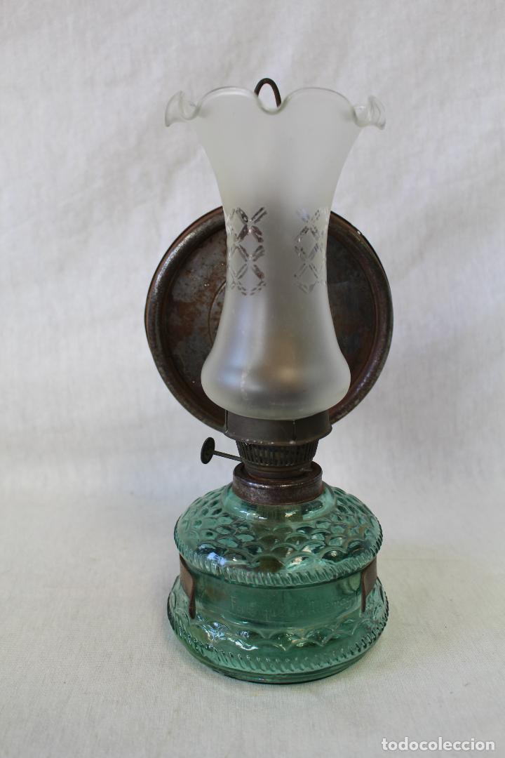 QUINQUE DE CRISTAL (Antigüedades - Iluminación - Quinqués Antiguos)