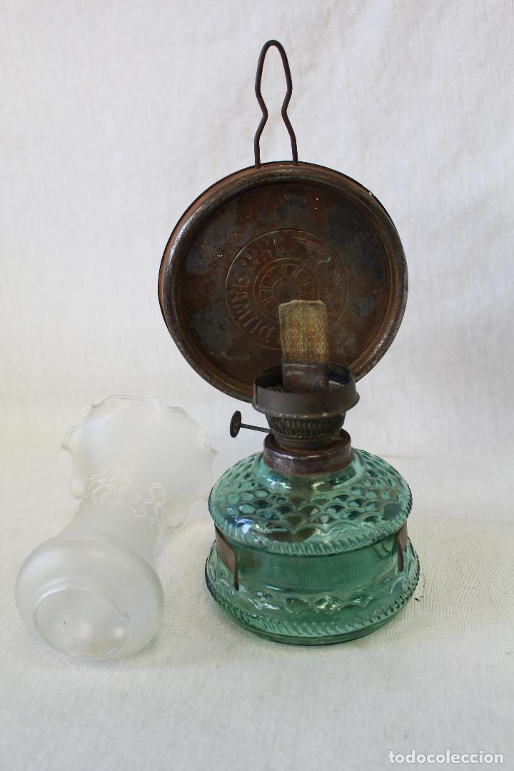 Antigüedades: quinque de cristal - Foto 2 - 63514436