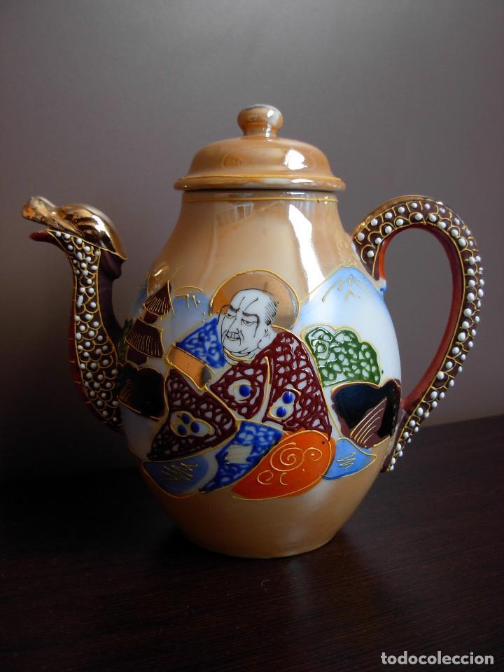 Antigüedades: Juego de te japonés de dos servicios. Con sello - Foto 2 - 63535388