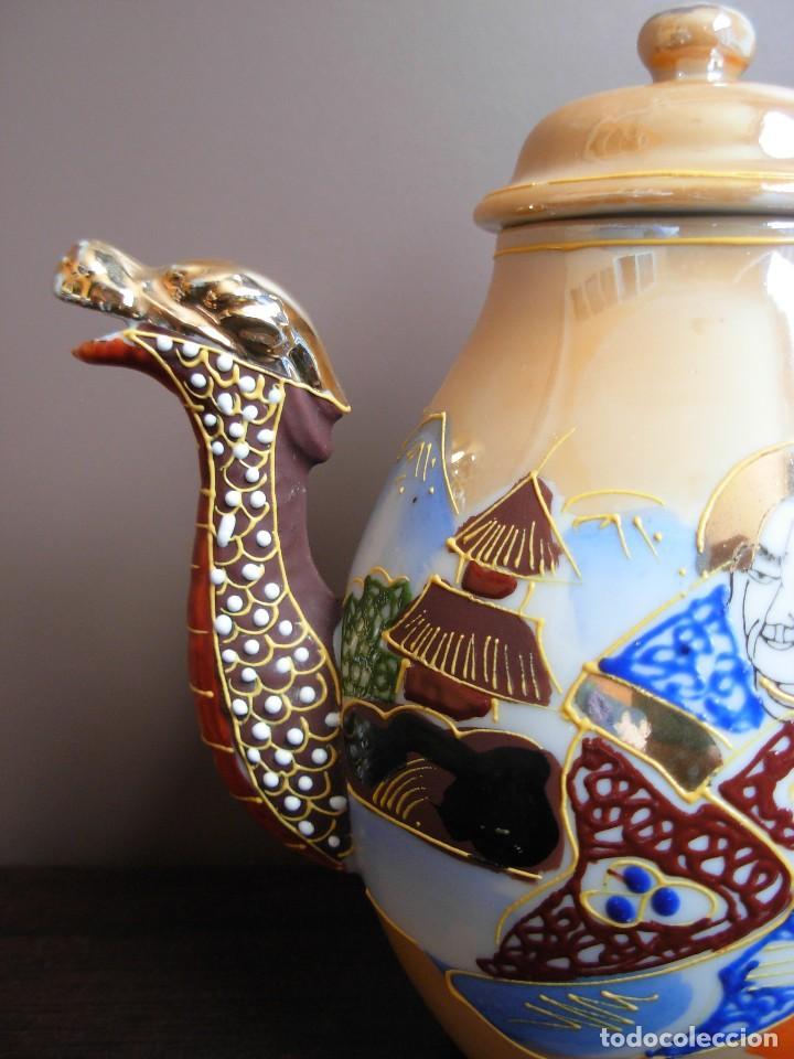 Antigüedades: Juego de te japonés de dos servicios. Con sello - Foto 3 - 63535388