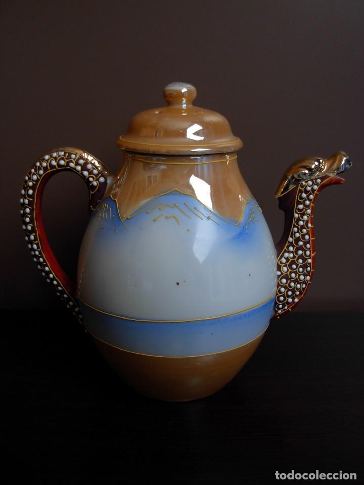 Antigüedades: Juego de te japonés de dos servicios. Con sello - Foto 5 - 63535388