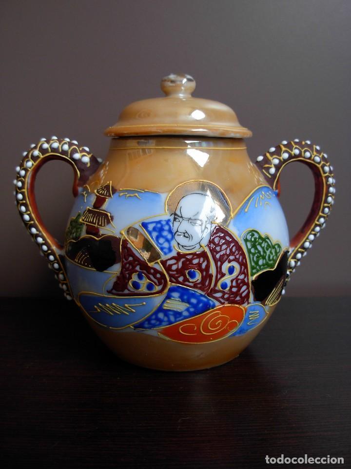Antigüedades: Juego de te japonés de dos servicios. Con sello - Foto 6 - 63535388