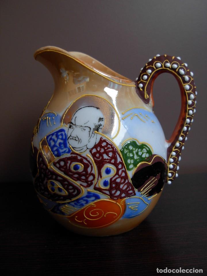 Antigüedades: Juego de te japonés de dos servicios. Con sello - Foto 9 - 63535388