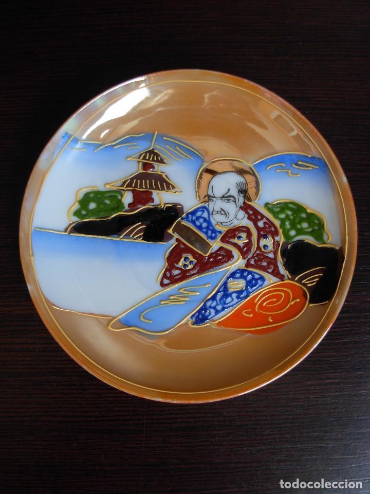 Antigüedades: Juego de te japonés de dos servicios. Con sello - Foto 13 - 63535388