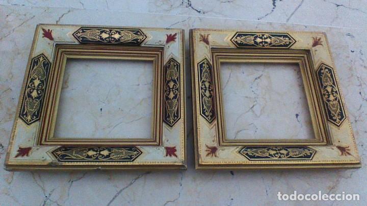 antigua pareja de marcos de madera. 20 x 20 cm - Comprar Marcos ...