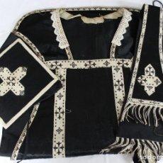 Antigüedades: CA-40. CONJUNTO DE 3 PIEZAS VESTIMENTA RELIGIOSA. S.XIX.. Lote 63560052