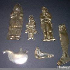 Antigüedades: MUY ANTIGUOS EXVOTOS DE PLATA.. Lote 63569028