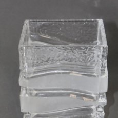 Antigüedades: JARRON FLORERO EN CRISTAL GLASEADO LALIQUE. Lote 63609147
