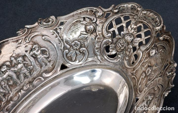 Antigüedades: Fuente bandeja plata española punzón estrella S XX - Foto 3 - 63635335