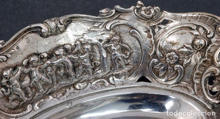 Antigüedades: Fuente bandeja plata española punzón estrella S XX - Foto 5 - 63635335