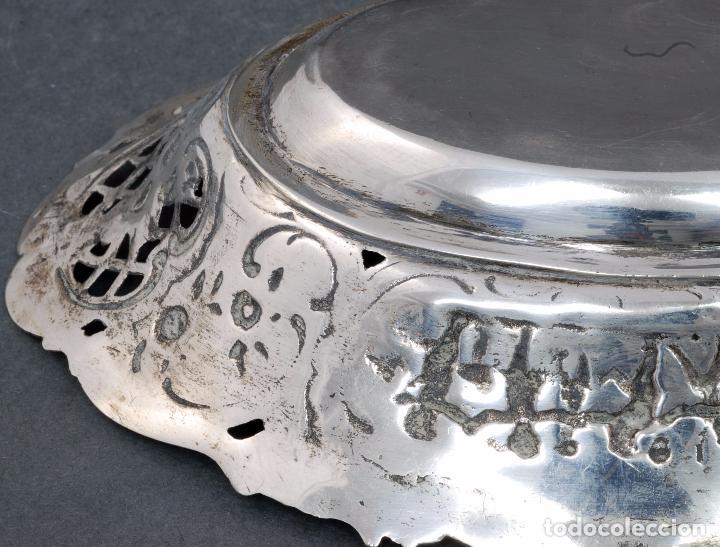 Antigüedades: Fuente bandeja plata española punzón estrella S XX - Foto 7 - 63635335
