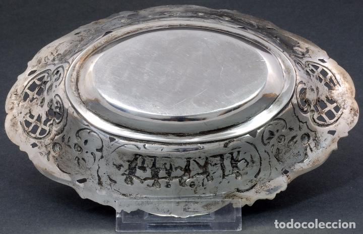 Antigüedades: Fuente bandeja plata española punzón estrella S XX - Foto 8 - 63635335